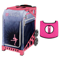 Zuca Sport Bag - Ice Dreamz Lux  with Gift  Black/Pink Seat Cover (Pink Frame)