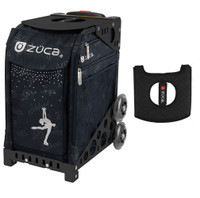 Zuca Sport Bag - Ice Queen with Gift  Black/Pink Seat Cover (Black Non-Flashing Wheels Frame)