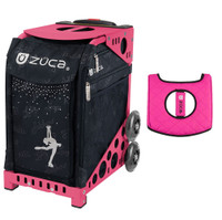 Zuca Sport Bag - Ice Queen with Gift  Black/Pink Seat Cover (Pink Frame)