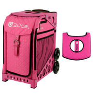 Zuca Sport Bag - Pink Hot with Gift  Black/Pink Seat Cover (Pink Frame)