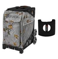 Zuca Sport Bag - Realtree Xtra Colors - Frost Gray with Gift  Black/Pink Seat Cover (Black  Frame)