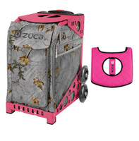 Zuca Sport Bag - Realtree Xtra Colors - Frost Gray with Gift  Black/Pink Seat Cover (Pink Frame)