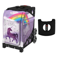 Zuca Sport Bag - Unicorn 2 with Gift  Black/Pink Seat Cover (Black Non-Flashing Wheels Frame)