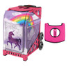 Zuca Sport Bag - Unicorn 2 with Gift  Black/Pink Seat Cover (Pink Frame)