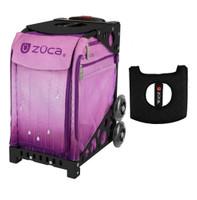 Zuca Sport Bag - Velvet Rain with Gift  Black/Pink Seat Cover (Black Non-Flashing Wheels Frame)