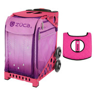Zuca Sport Bag - Velvet Rain with Gift  Black/Pink Seat Cover (Pink Frame)