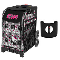 Zuca Sport Bag - Hello Kitty (Masterpiece) with Gift  Black/Pink Seat Cover (Black Non-Flashing Wheels Frame)