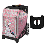 Zuca Sport Bag - Forest Friends with Gift  Black/Pink Seat Cover (Black Non-Flashing Wheels Frame)