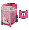 Zuca Sport Bag - Forest Friends with Gift  Black/Pink Seat Cover (Pink Frame)