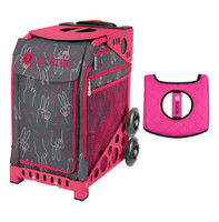 Zuca Sport Bag - Peace Now with Gift  Black/Pink Seat Cover (Pink Frame)