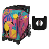 Zuca Sport Bag - Toucan Dream with Gift  Black/Pink Seat Cover (Black Non-Flashing Wheels Frame)