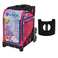 Zuca Sport Bag - Best Friends with Gift  Black/Pink Seat Cover (Black Non-Flashing Wheels Frame)