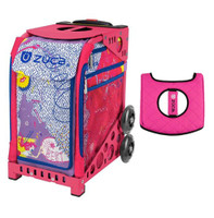 Zuca Sport Bag - Best Friends with Gift  Black/Pink Seat Cover (Pink Frame)