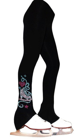 "Ice Skating Pants with ""Skate with Heart"" Design"