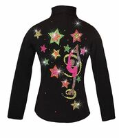 "Ice Skating Jacket with ""Biellmann Stars"" Design"