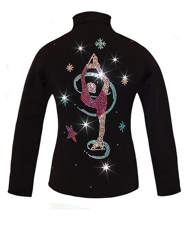 """Ice Skating Jacket with """"Colorful Biellmann"""" Applique"""