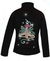 """Ice Skating Jacket with """"Skate with Heart"""" Rhinestones Design"""