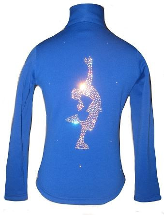 "Blue Figure Skating Jacket with ""Layback"" applique"