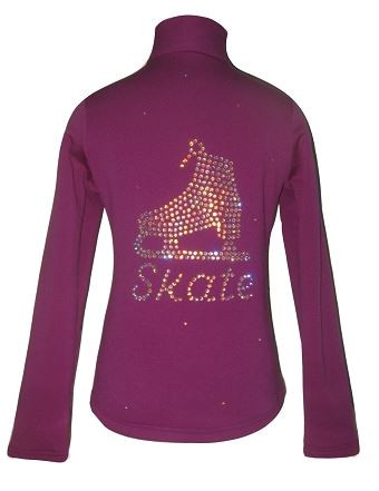 "Purple Jacket with ""Skate"" applique"