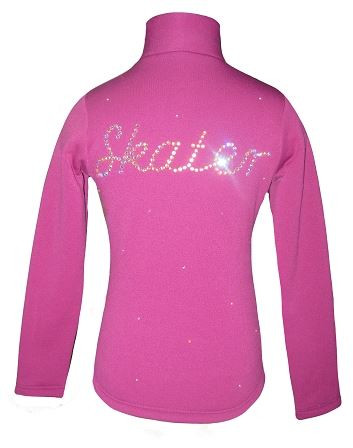 "Purple Ice Skating Jacket with ""Skater"" applique"