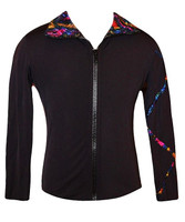Criss Cross Poly/Spandex Stardust Sparkle Ice Skating Jacket  3RD VIEW