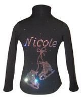 Ice Skating Jacket personalized with Name and Rhinestone Applique - CJ101