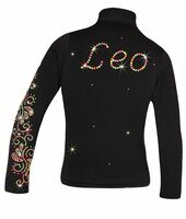 """Personalized Ice Skating Jacket with """"Neon Swirls"""" Applique"""