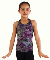 Ice Skating Tank Top - Purple Waves