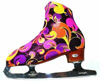 """Fantasy "" Ice Skating Boot Covers (Pink/Orange)"