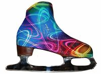 Silver Sky Ice Skating Boot Covers