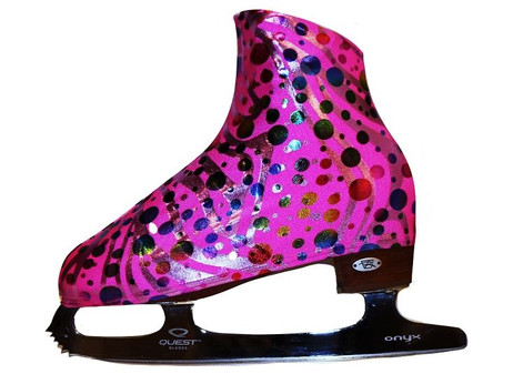 Party Pink Ice Skating Boot Covers