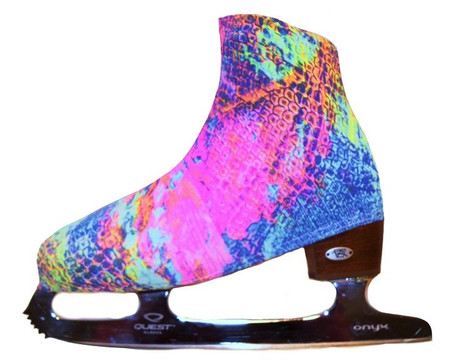 """""""Neon Lights """" Ice Skating Boot Covers"""