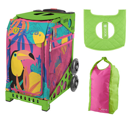 Zuca Sport Bag - Toucan Dream with Gift Seat Cover and Stuff Sack (Green Frame)