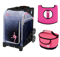 Ice Dreamz Lux with Gift Pink/Black Seat Cover and Lunchbox (Black Frame)