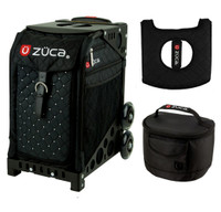 Zuca Sport Bag - Mystic  with Gift Hot Pink/Black Seat Cover and Black Lunchbox( Black Frame)