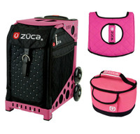 Zuca Sport Bag - Mystic  with Gift Hot Pink/Black Seat Cover and Pink Lunchbox( Pink Frame)