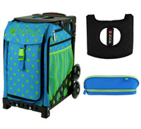 Zuca Sport Bag - Orbz  with Gift Hot Pink/Black Seat Cover and Green/Blue Pencil Case( Black Frame)