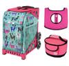 Zuca Sport Bag - Llama Rama  with Gift Hot Pink/Black Seat Cover and Pink Lunchbox( Pink Frame)