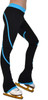 P76 Turquoise Figure Skating Pants by ChloeNoel Ice Skating Apparel Side View