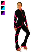 ChloeNoel Figure Skating Spiral Outfit - Pants and Jacket Combination