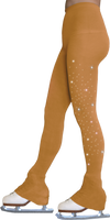 ChloeNoel Footless Ice Skating Tights 8896 with Crystals