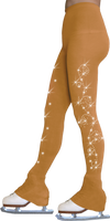ChloeNoel Footless Ice Skating Tights 8896 2Swirls