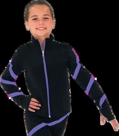 Chloe Noel JS106P Elite Polartec Spiral Fleece Figure Skating Jacket
