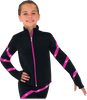 Chloe Noel JS106P Elite Polartec Spiral Fleece Figure Skating Jacket with Crystals 3rd view