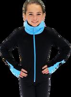 Chloe Noel JS883P Contract Elite Polartec Spiral Fleece Figure Skating Jacket 2nd view