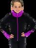 Chloe Noel JS883P Contract Elite Polartec Spiral Fleece Figure Skating Jacket 3rd view