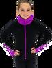 Chloe Noel JS883P Contract Elite Polartec Spiral Fleece Figure Skating Jacket with Crystals