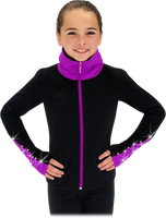Chloe Noel JS883P Contract Elite Polartec Spiral Fleece Figure Skating Jacket with Crystals