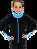Chloe Noel JS883P Contract Elite Polartec Spiral Fleece Figure Skating Jacket with Crystals 3rd view