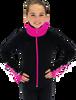 Chloe Noel JS883P Contract Elite Polartec Spiral Fleece Figure Skating Jacket with Crystals 4th view